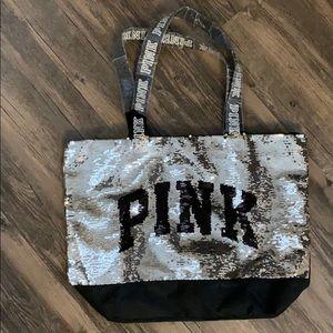 PINK Glitter Tote
